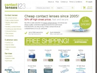 Contactlenses123.co.uk - Closed down