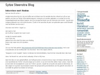 Sytze Steenstra Blog