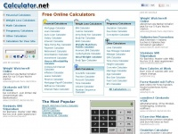 Calculator.net: Free Online Calculators - Math, Health, Financial, Science