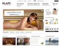 KLAFS: Sauna | Dampfbad | Infrarotkabine | SANARIUM® | Saunahersteller