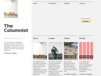 Thecolumnist.info - The Columnist | A grid-based theme inspired by traditional newspaper layouts and the grid structures and typography techniques they employ.