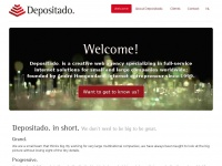 Depositado. — Quick. Effective. Distinct. — We don't need to be big to be great.