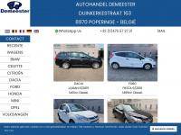 DEMEESTER BVBA : Unfallauto & unfallwagens, schadewagens & schadeauto's & ongevalwagens, voitures accidentées et réparables.