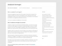 Analytisch Vermogen | Heb jij het?