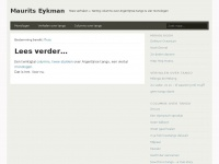 Eykman.nl - In uitvoering - Maurits Eykman