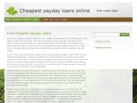 Cheap-paydayloans.co.uk - Cheapest payday loans online | Get cash fast