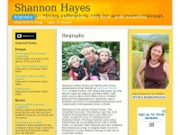 Shannonhayes.info - Biography - Shannon Hayes