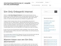 Sim Only Onbeperkt Internet En Bellen | simonlyonbeperktinternet.nl | De beste sim only onbeperkt internet en bellen aanbiedingen!