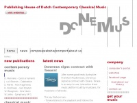 Donemus | Publishing House of Contemporary Classical Music