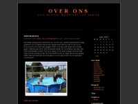 over ons | Just another WordPress.com weblog