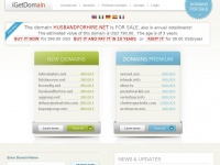 Husbandforhire.net - iGetDomain Powerful Domain Marketplace - Premium Domains for Sale or Rent