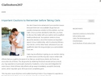 Cialisstore247.com - UK Cialis Store available 24/7 Fast delivery from £0.48