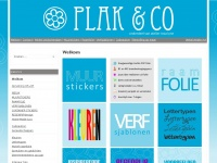 Muurstickers, raamfolie, ontwerp, drukwerk, bestickering van Plak&co