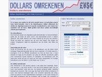 Dollar omrekenen met valuta calculator