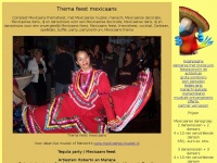 Thema feest mexicaans