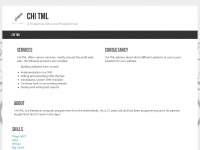 Chitml.com - CHI TML | A Freelance Allround Programmer